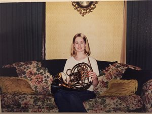 Throw back photo! Lisa in High School with her Holton 279 horn